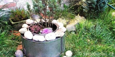 DIY: Dokonalý květináč z bubnu od pračky