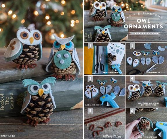 šišky the-perfect-diy-30-homemade-christmas-ornaments11