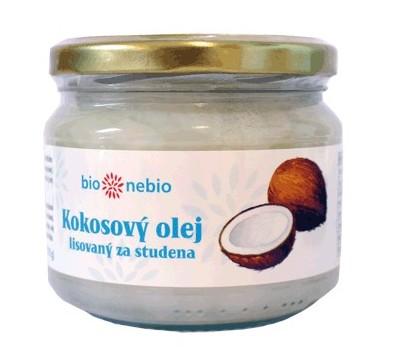 Kokosový olej bBio Nebio lisovaný za studena stojí  125 Kč.