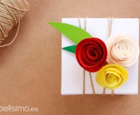 Caja-de-regalo-boda-flores-de-papel-Wedding-paper-gift-box