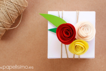 Caja-de-regalo-boda-flores-de-papel-Wedding-paper-gift-box